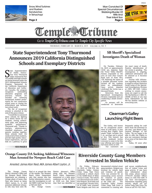 Temple City Tribune - 02/28/2019 by Beacon Media News - issuu