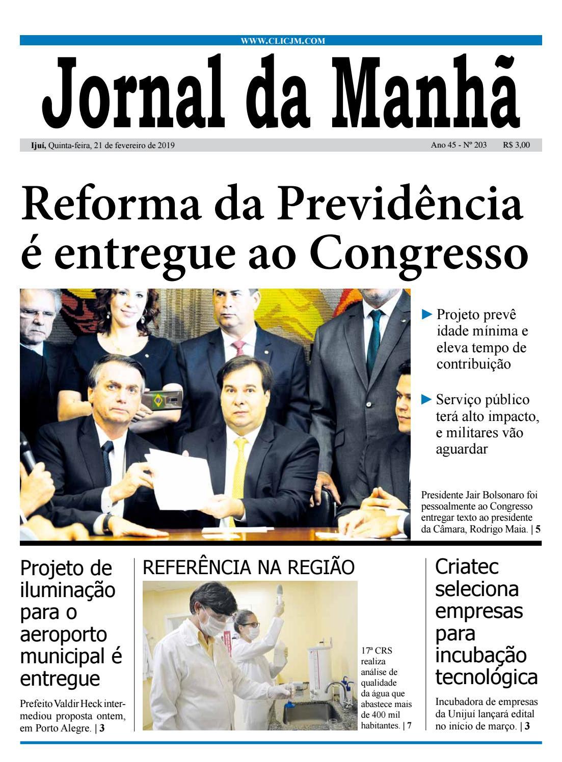 92f092e5d1f41 Jornal da Manhã - Quinta-feira - 21-02-2019 by clicjm - issuu