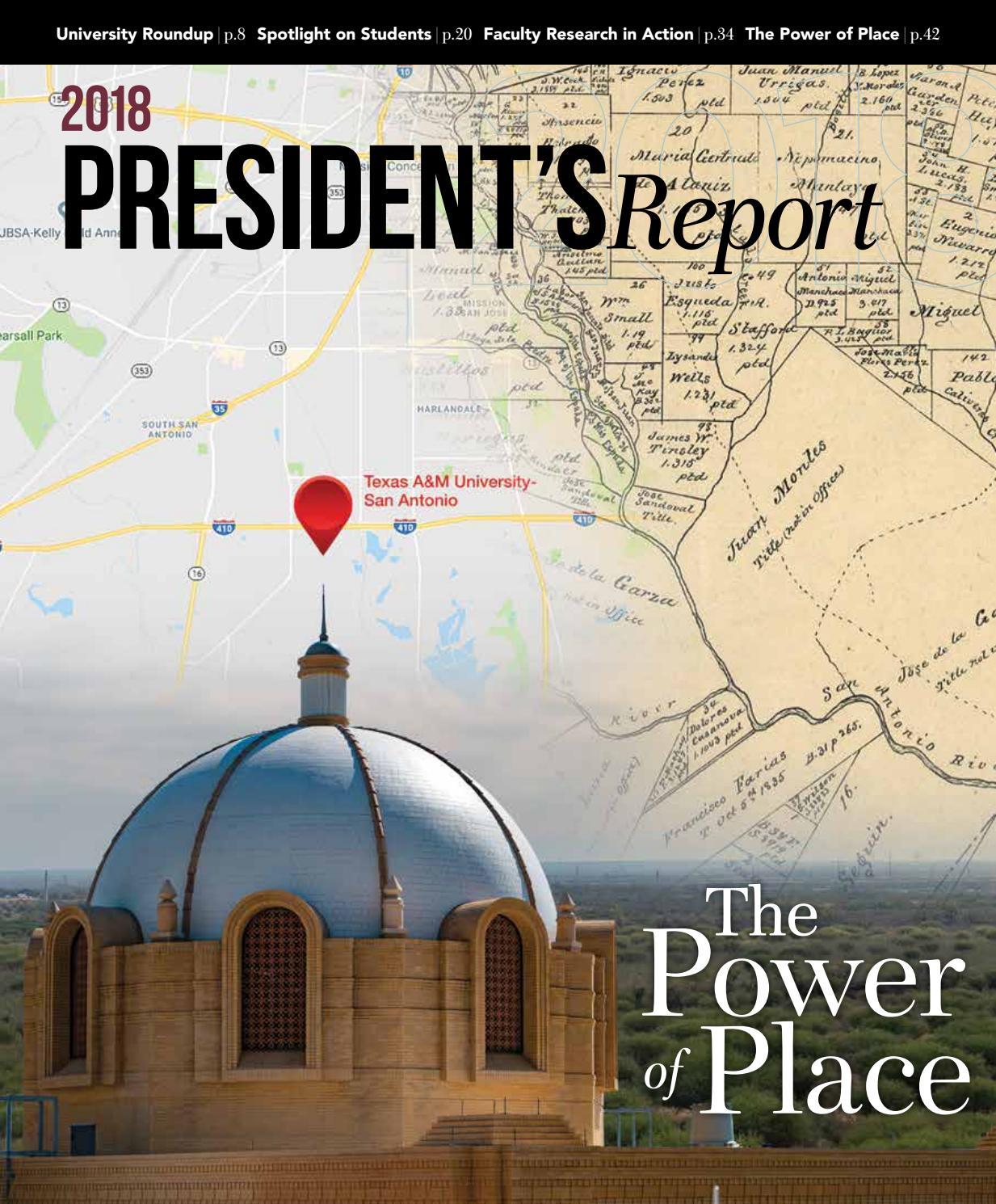 2018 Texas A&M University-San Antonio President's Report by