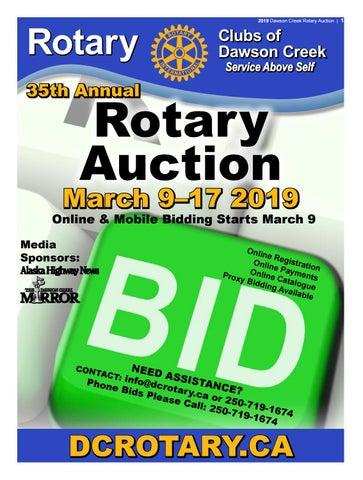 2019 Dawson Creek Rotary-Auction by The Mirror - issuu