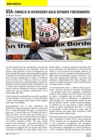 Page 12 of USA: Famiglie di richiedenti asilo separate forzatamente /Nord America