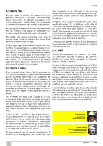Page 9 of La discriminazione dei ROM in Europa: prime vittime i bambini /Europa