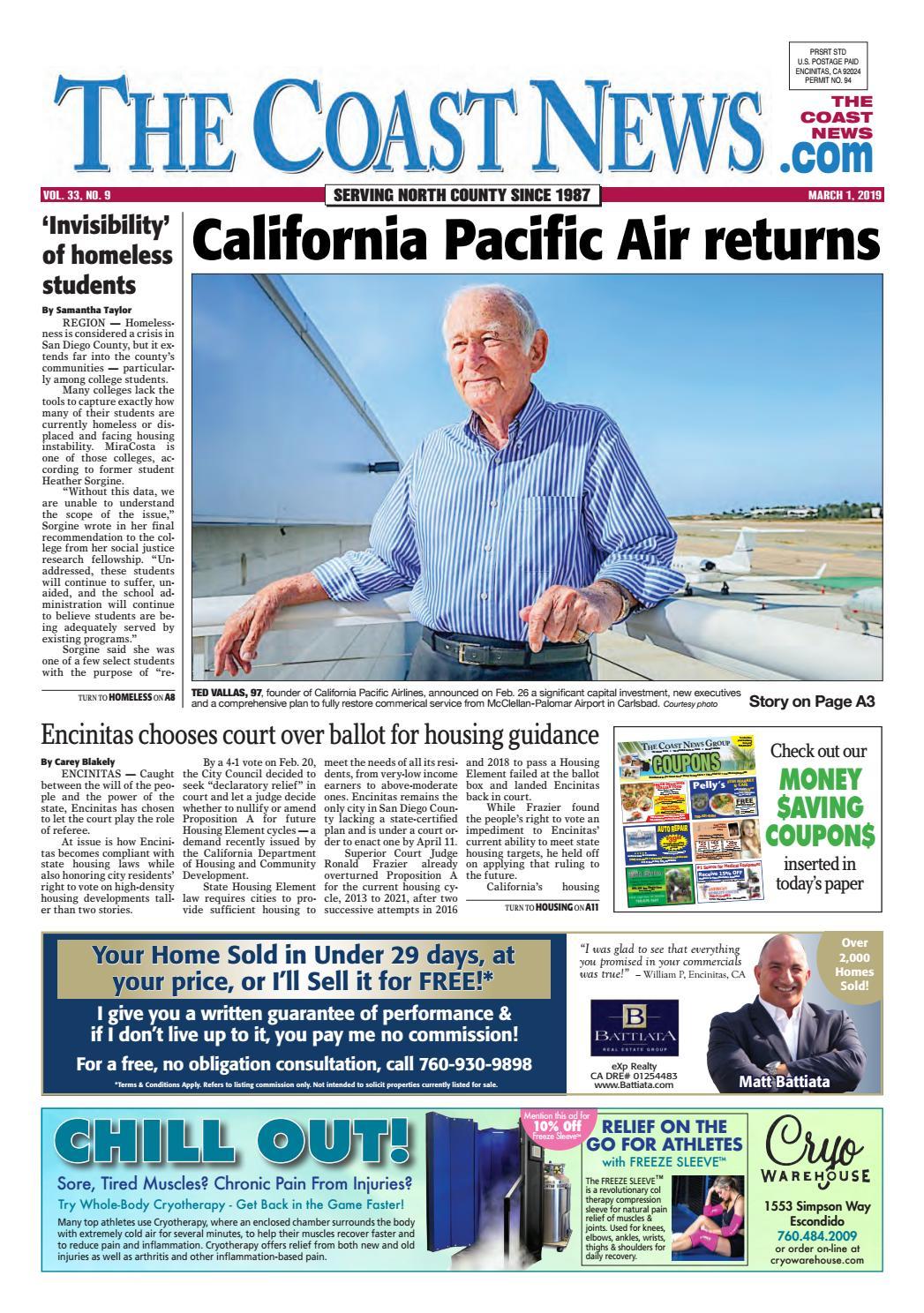 The Coast News, March 1, 2019 by Coast News Group - issuu