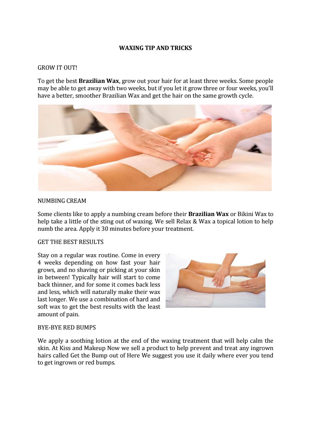 WAXING TIP AND TRICKS by kissand makeup - issuu