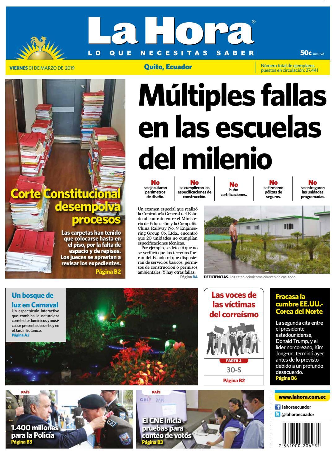 935ee804cafd Quito 1 de marzo del 2019 by Diario La Hora Ecuador - issuu