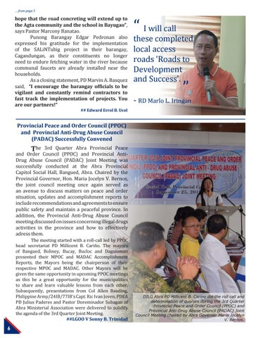 Page 6 of Three Infrastructure Projects in Apayao, Inaugurated