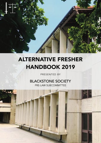 Alternative Fresher Handbook 2019 : Pre-Law Students by Blackstone