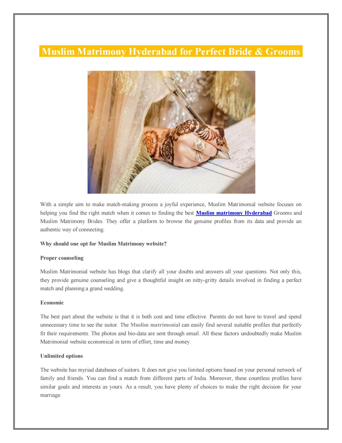 Muslim Matrimony Hyderabad by Salam Shaadi - issuu