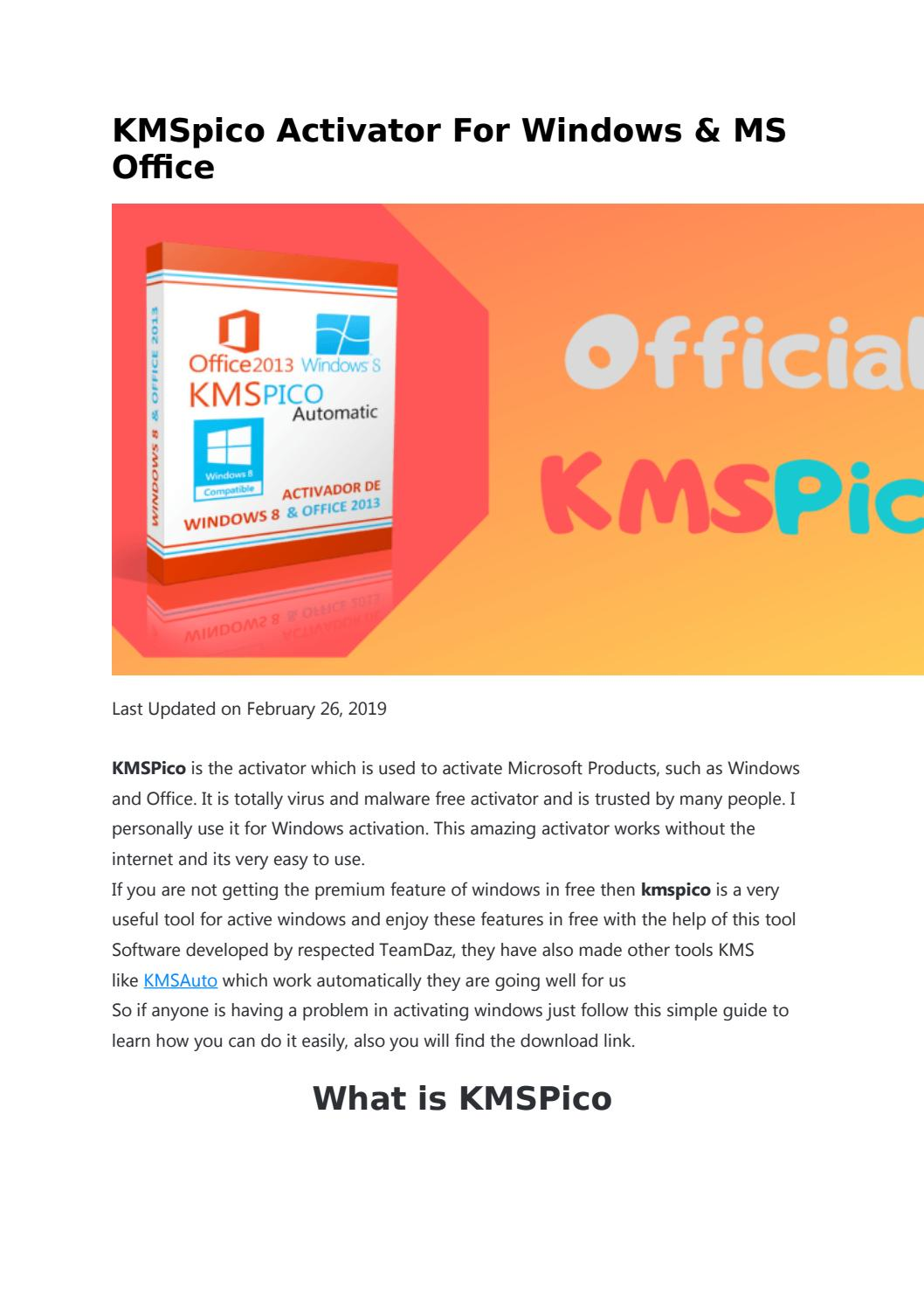 Official KMSPico Download & Install KMSpico by PUBG Mobile