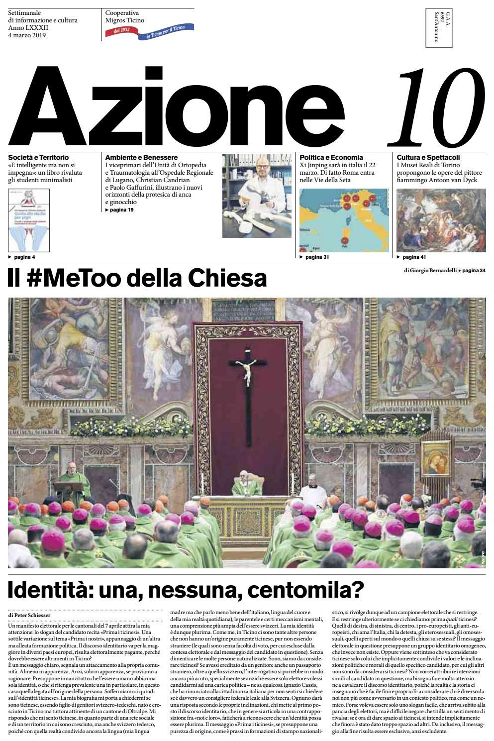 Settimanale 2019 4 Issuu Ticino Migros Marzo Di Azione By 10 Del Azione 1xf0O