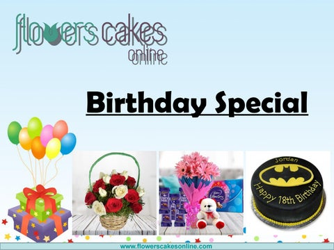 Online Birthday Gifts Delivery In India By Flowers Cake