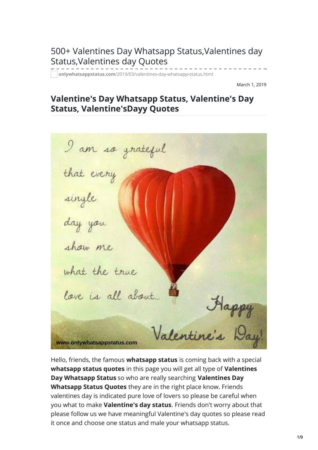 Valentines Day Whatsapp Status By Whatsappstatus Issuu