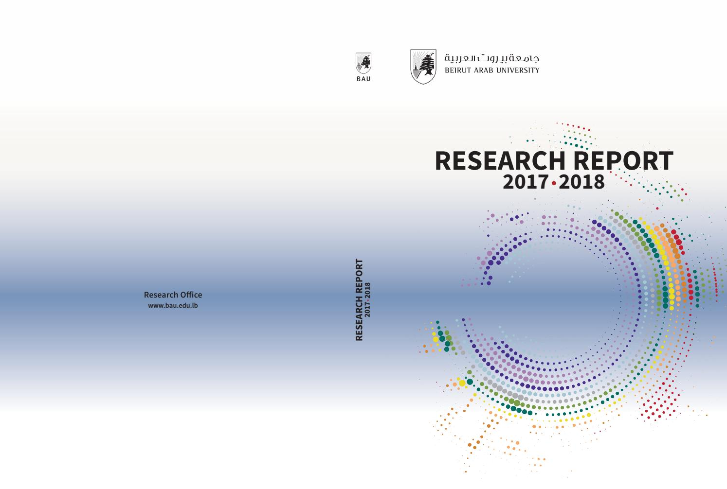 Research Report 2017-2018 by BAUWebsiteOffice - issuu