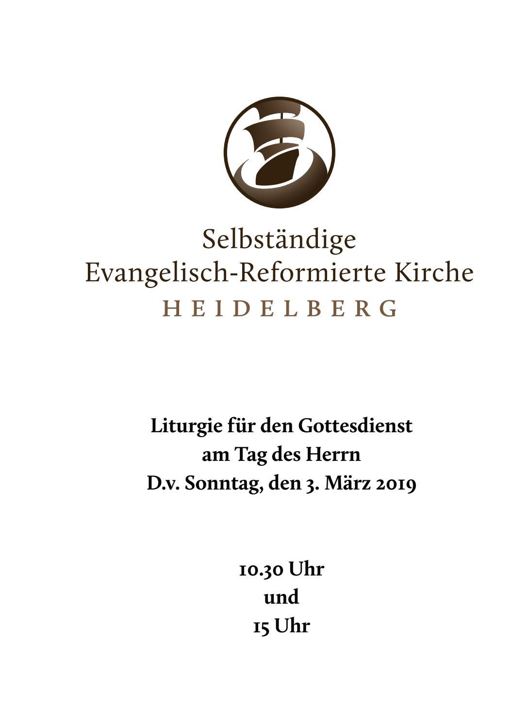 Liturgie 3 März 2019 By Selbständige Evangelisch