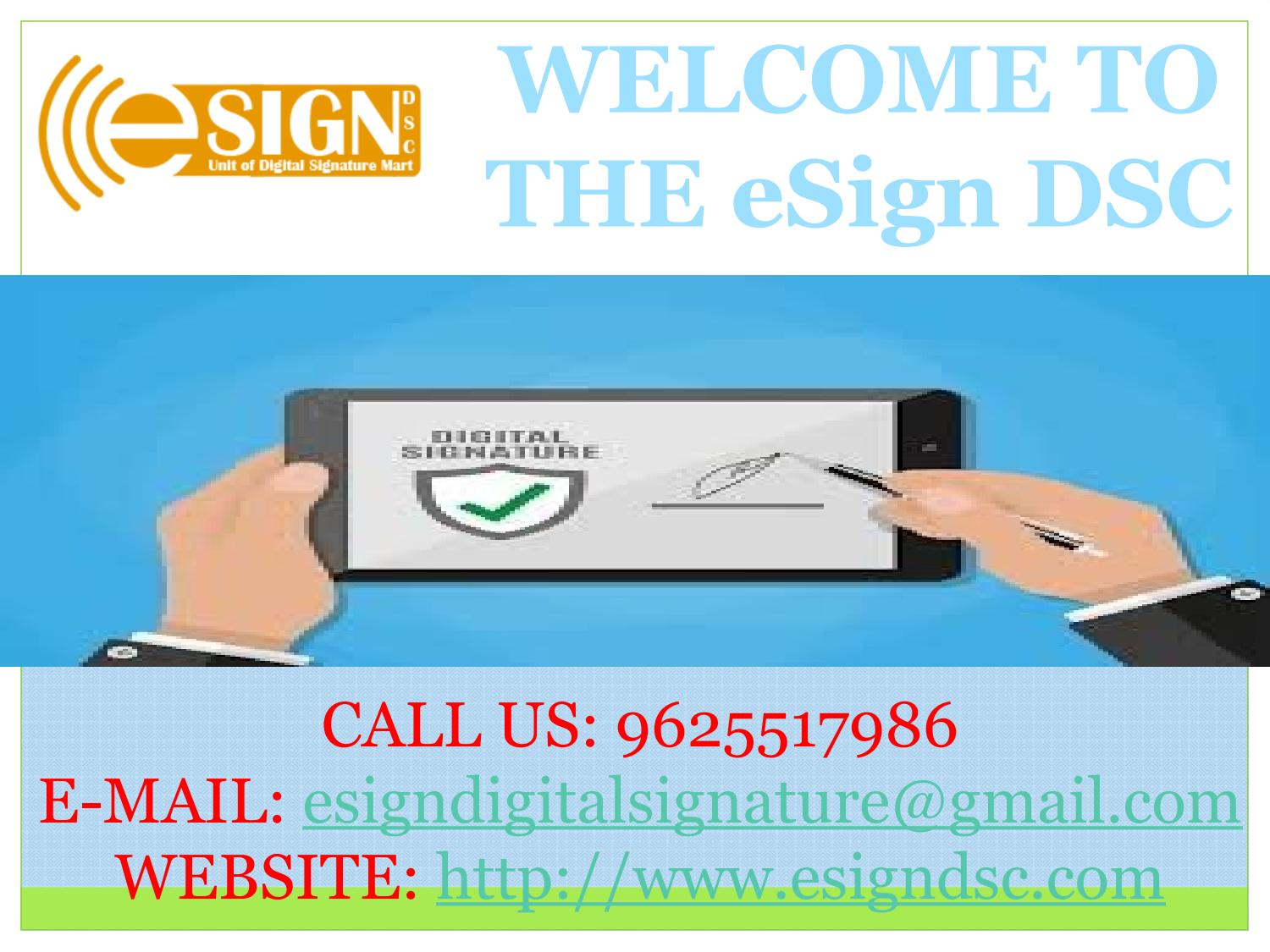 Get Digital Signature Certificate By E Sign Dsc By Esign Digital