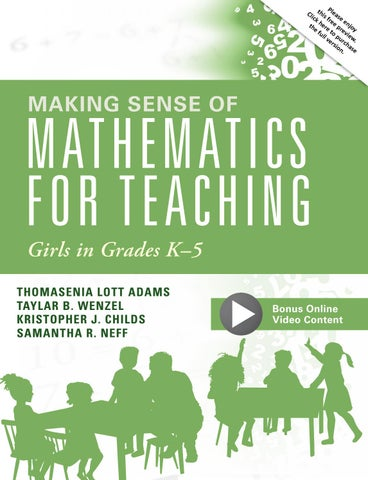 Teacher Expectations Reflect Racial Biases Johns Hopkins Study >> Making Sense Of Mathematics For Teaching Girls In Grades K 5 By