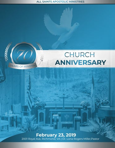 All Saints Apostolic Church- 70th Anniversary Booklet by