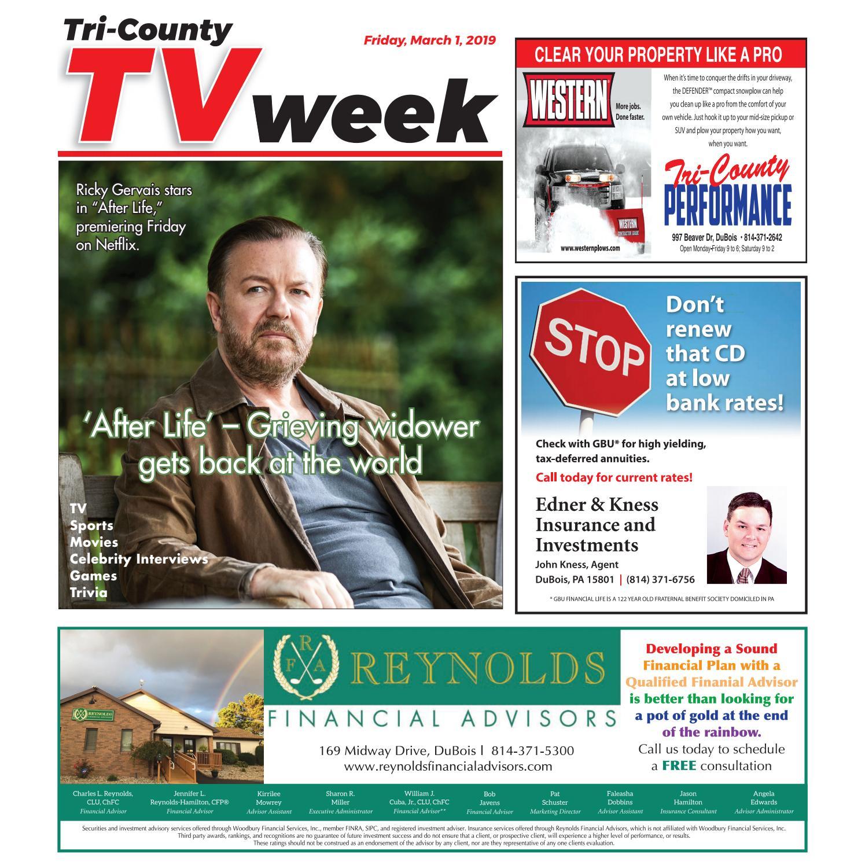 TV Week, Friday, March 1, 2019 by Tri-County TV Week - issuu