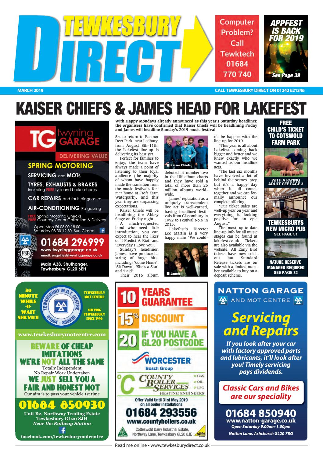 Tewkesbury Direct Magazine March 2019 by Tewkesbury Direct