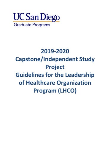 LHCO Capstone_ISP GUIDELINES 2019-20 by UCSD-OAPED - issuu