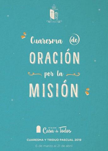 Cuaresma De Oración Por La Misión By Icmuy Issuu