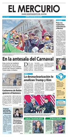 a4741463a El Mercurio-28-02-2019 by Diario El Mercurio Cuenca - issuu