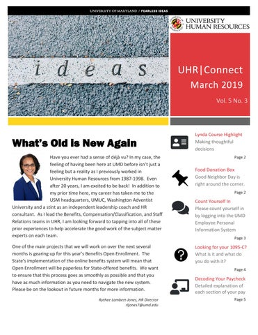 Umd Calendar Fall 2020.Uhrconnect March 2019 By University Human Resources Issuu