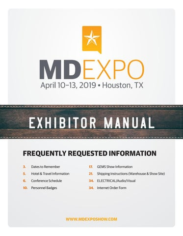 MD Expo Fall 2019 Exhibitor Manual by MD Publishing - issuu