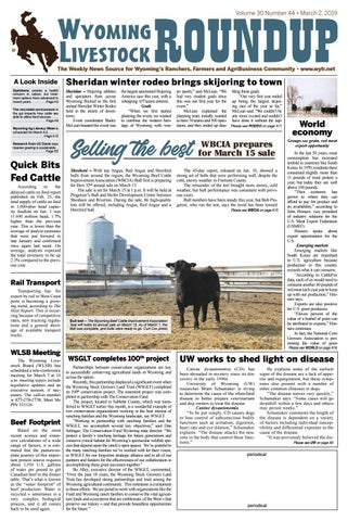 March 2, 2019 by Wyoming Livestock Roundup - issuu