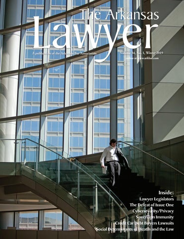 The Arkansas Lawyer Winter 2019 by Arkansas Bar Association