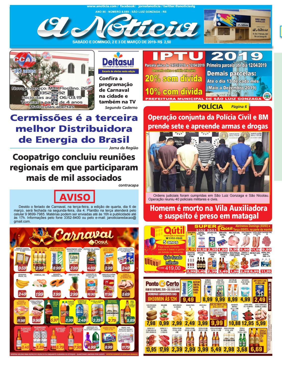 57f8b4d25 Edição do dia 2 e 3 de março by Jornal A Notícia - issuu