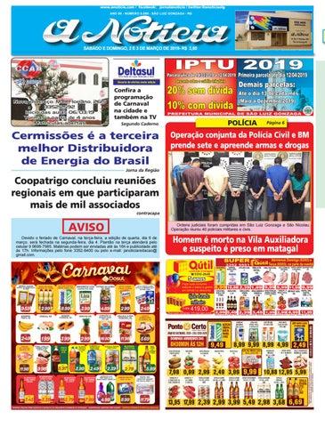 046fb035d www.anoticia.com / facebook: jornalanoticia / twitter:@anoticiaslg ANO 85 -  NÚMERO 8.089 - SÃO LUIZ GONZAGA - RS