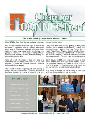 Chamber CONNECTion | March - April 2019 by Coral Gables