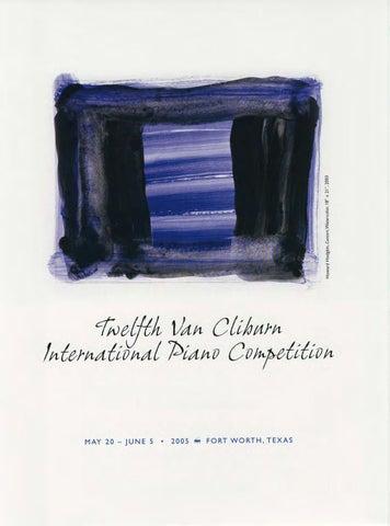 Twelfth Van Cliburn International Piano Competition Program Book ... 40528bb0b24a