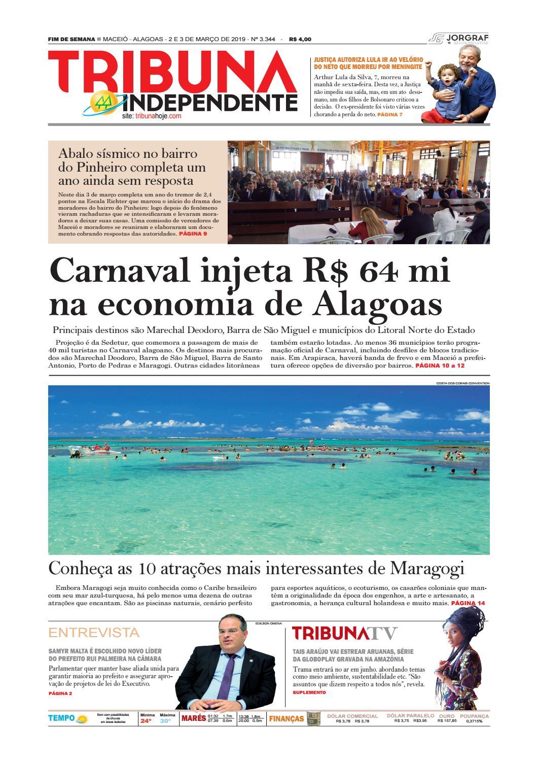 bc9986ff2 Edição número 3344 - 2 e 3 de março de 2019 by Tribuna Hoje - issuu