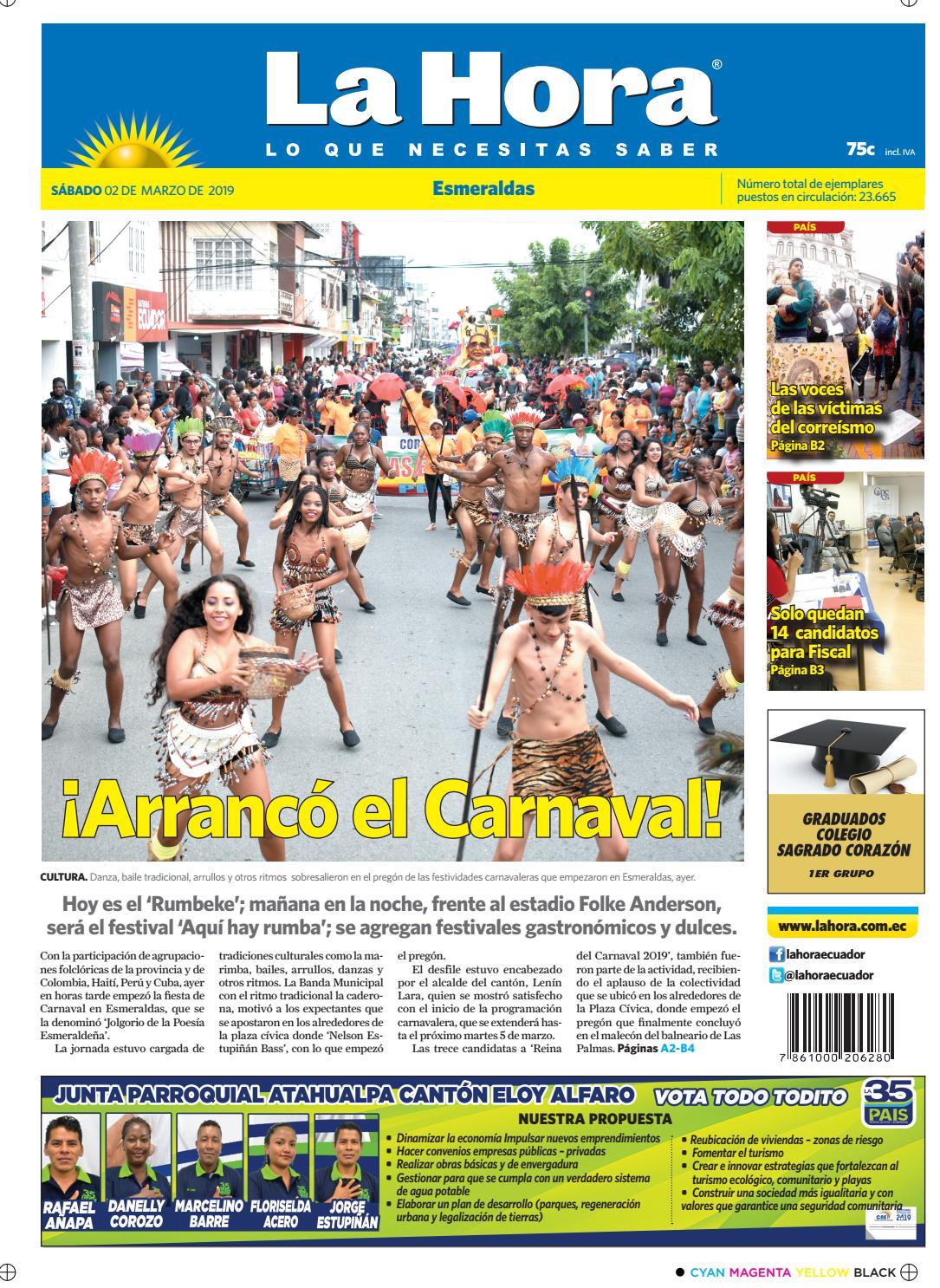 938b6667121cd Esmeraldas 2 de marzo del 2019 by Diario La Hora Ecuador - issuu