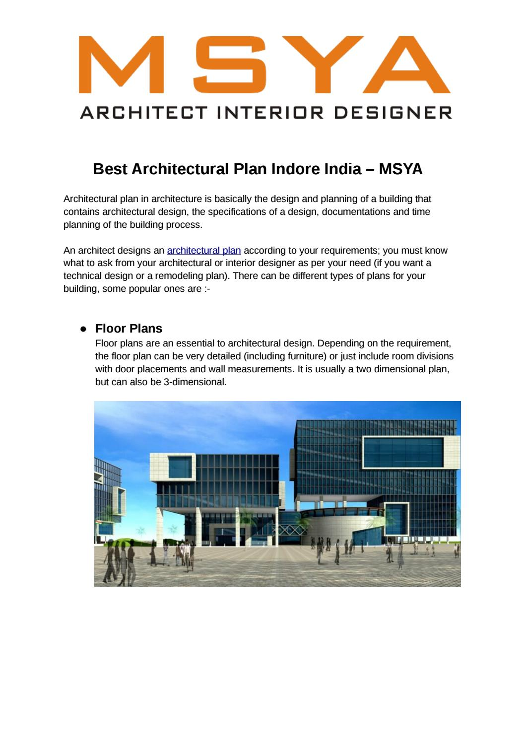Best Architectural Plan Indore India Msya By Msyaarchitects18 Issuu