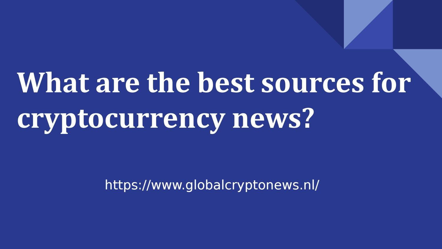 best source of news for cryptocurrency