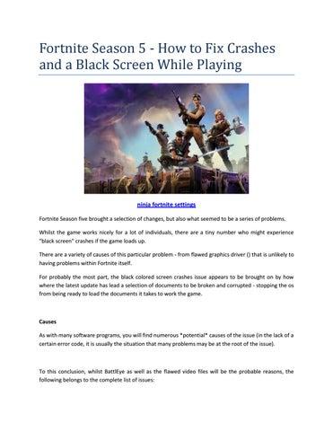 ninja settings fortnite by freeweb264 - issuu