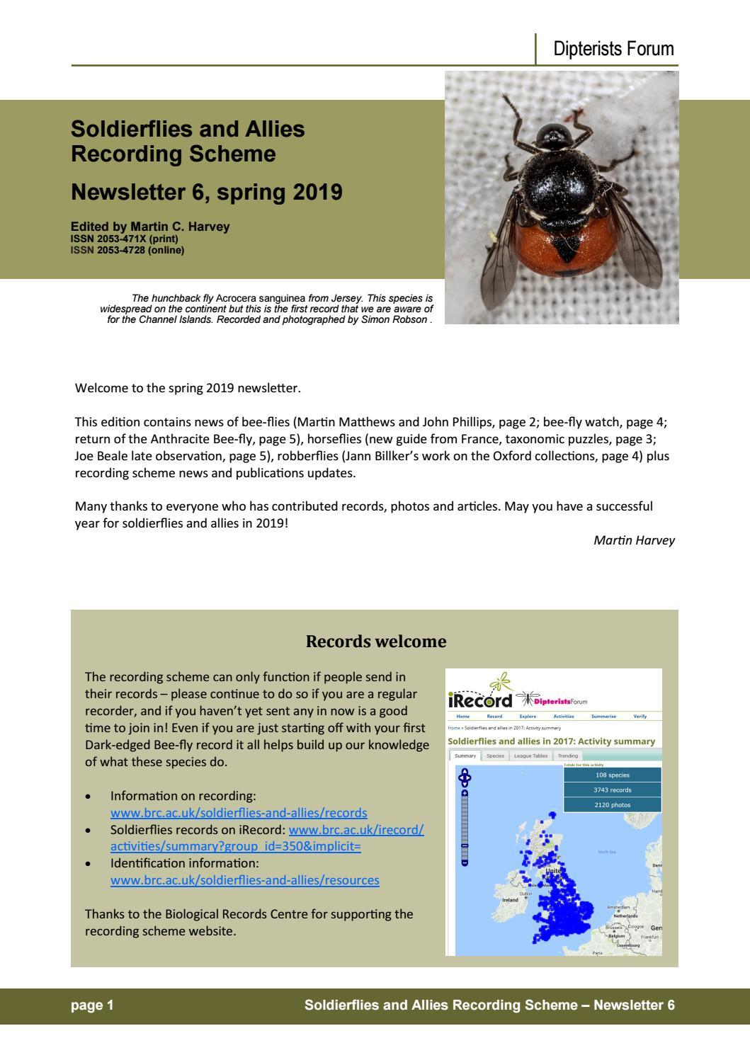 Soldierflies newsletter 6 by Martin Harvey - issuu