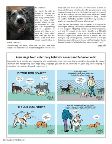 Page 18 of A Message from Behavior Vets