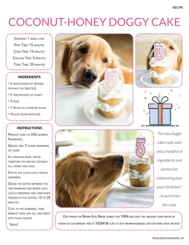 Page 29 of Coconut-Honey Doggy Cake