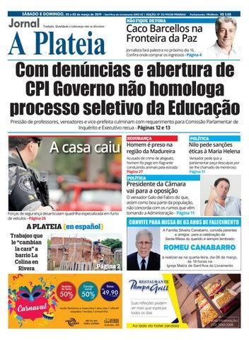 95a4d466e54 Jornal A Plateia - 02 e 03 de Março de 2019 by Jornal A Plateia ...