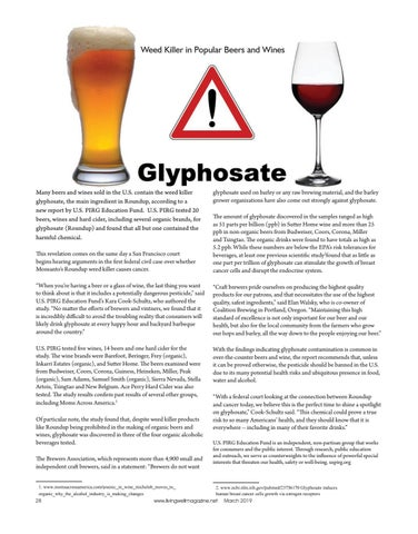 Page 28 of Glyphosate A popular Weed Killer in our Beer and Wine