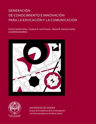 Generación de conocimiento e innovación para la educación y la ... cae7b423b53c1
