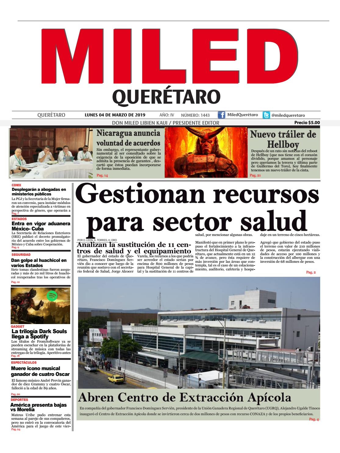 Miled Queretaro 04 03 19 By Miled Estados Issuu