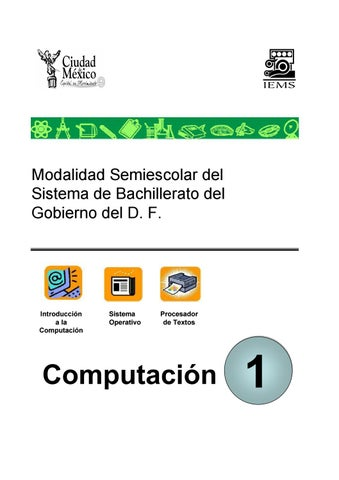 Computación 1 Iems Cdmx By Pedro Daniel Lara Maldonado Issuu
