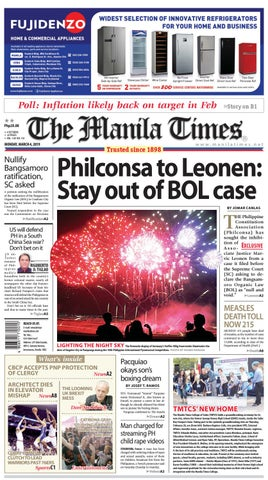 THE MANILA TIMES | MARCH 04, 2019 by The Manila Times - issuu