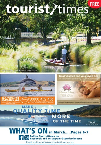 March 2019 Canterbury Nelson Westcoast Touristtimes New Zealand by