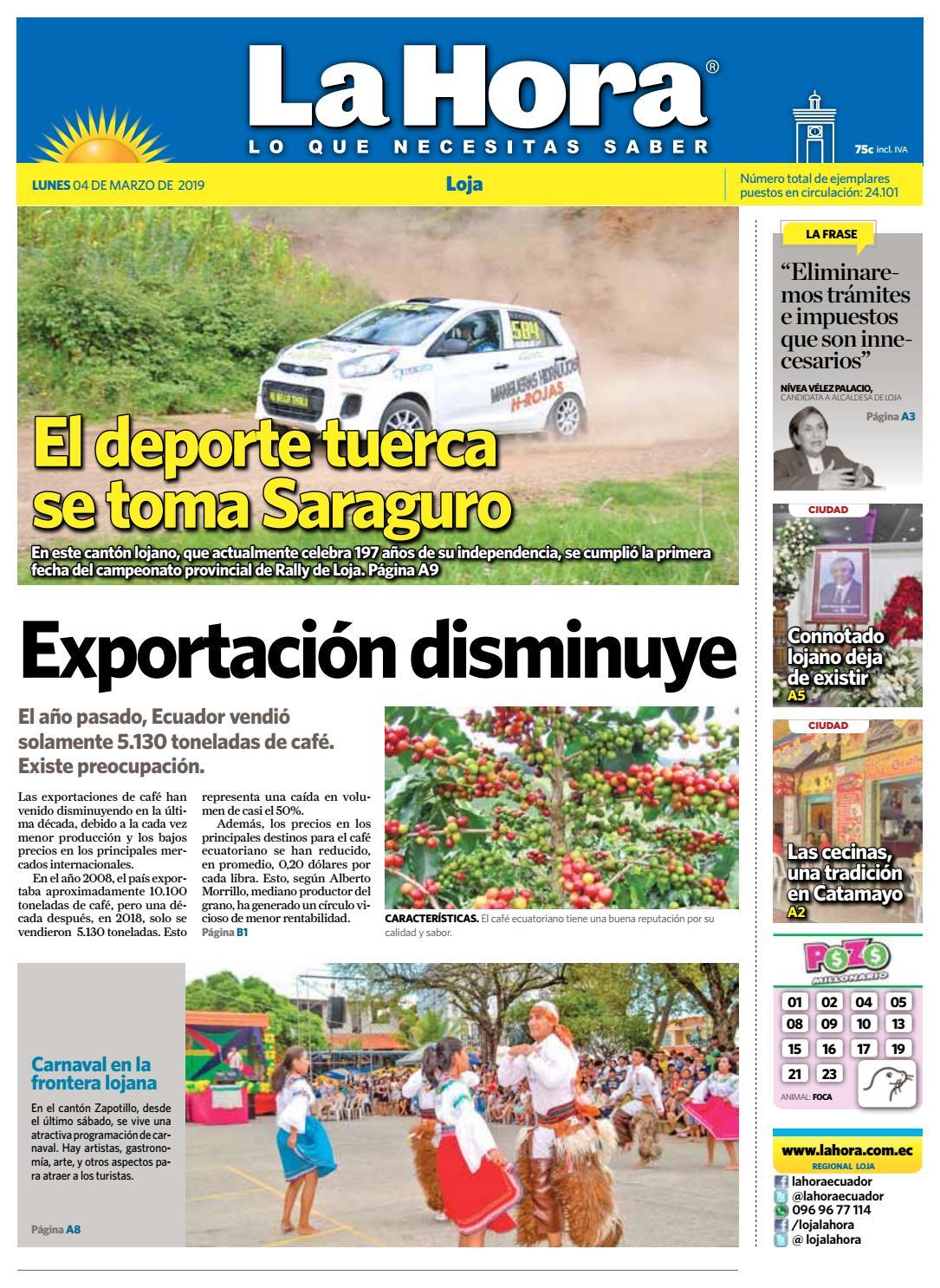 68274500ab793 Diario La Hora Loja 04 de Marzo 2019 by Diario La Hora Ecuador - issuu